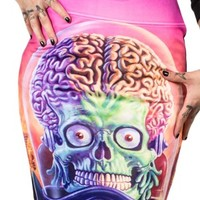 Women's Mars Attacks Full Battle Pencil Skirt