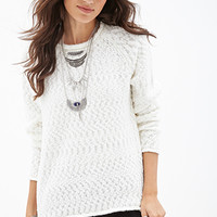 FOREVER 21 Textured Fisherman Sweater