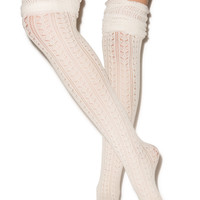 Leg Avenue Pretty Pointelle Over The Knee Sock
