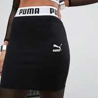 Puma Exclusive To ASOS Cropped Mesh Skirt Co Ord at asos.com