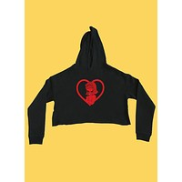 Naughty Lucy Cropped Hoodie