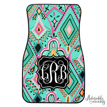 Personalized Lilly Pulitzer Inspired Car Mats