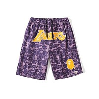 Bape summer new camouflage shorts  Printed Camouflage Sweatpants Gym Running Sports Basketball Five-Point Pants Men Clothing