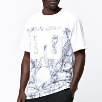 On The Byas Duarte Marble Mesh Zip Jersey - Mens Tee - White