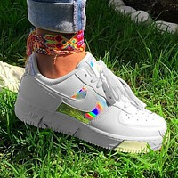 Nike Air Force 1 AF1 Fashion Women Men Laser Shoes Flat Shoes White
