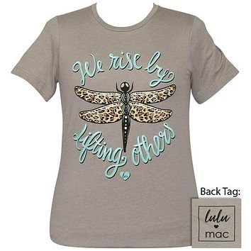 Girlie Girl Lulu Mac Preppy Lift Others Leopard Dragonflies T-Shirt