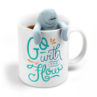 Tea for Two Tea Infuser + Manatee Mug Gift Set