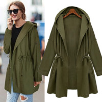 Plus Size Women's Fashion Summer Windbreaker [196477124634]