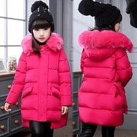 Girl's down Jackets Coats warm Kids baby thick duck Down jacket Children down Outerwear jacket