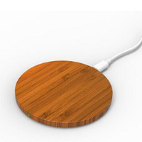 Portable Bamboo Qi Smart Wireless Charging Pad Transmitter Wireless Charger Power For iPhone Samsung Galaxy S6 Edge Mobile Phone Free DHL