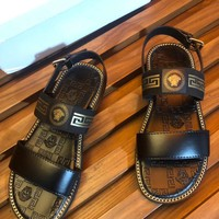 Versace Men Fashion fashionable casual leather Heels Sandal Shoes Sneakers Sport Shoes