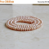 49% Off Sale Freshwater Pearl Pink Button Pastel Pink 5mm Full Strand 125 beads