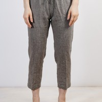 Clipper Women's Everyday Linen Pants in Olive