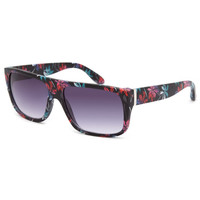 Blue Crown Tropical Flat Top Sunglasses Black One Size For Men 25758710001