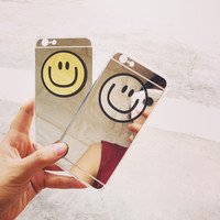Mirror Smiley Face Phone Case For iPhone 7 7 Plus