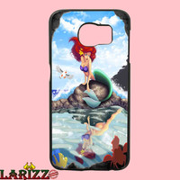 "ariel little mermaid for iphone 4/4s/5/5s/5c/6/6+, Samsung S3/S4/S5/S6, iPad 2/3/4/Air/Mini, iPod 4/5, Samsung Note 3/4 Case ""002"""
