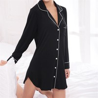 Solid Sleep Lounge Soft Nightwear