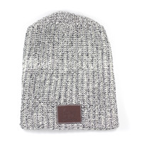 Black Speckled Beanie   Love Your Melon