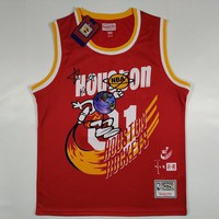 Travis Scott x BR Bleacher Report x Mitchell & Ness Rockets #1 Jack Jersey Red - Best Deal Online