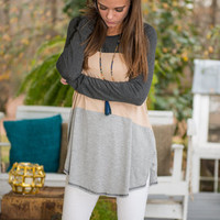 Get Together Tunic, Charcoal