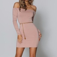 Karissa Off-the-Shoulder Criss-Cross Back Dress