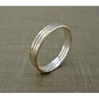 Hammered 14k Gold Filled Guitar String Ring