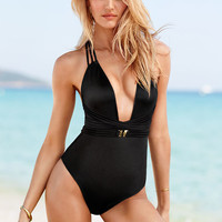 Plunge Strappy-back One-piece