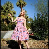 Jenny Dress in Neverland Sateen | Pinup Girl Clothing