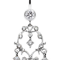 Vintage Sparkle Belly Button Ring