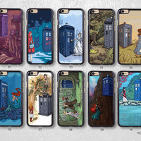 Doctor Who Tardis with Disney Princess Protective Phone Case For iPhone case & Samsung case, H33