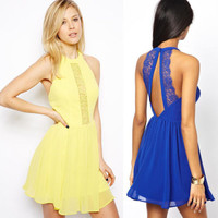 Sexy Summer Casual Chiffon Party Cocktail Short Dress