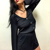 Red Rocks Romper - Black Crisp