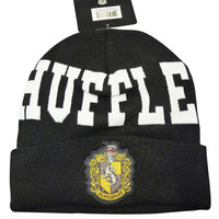 Harry Potter Hat - Hufflepuff Beanie Black