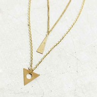 Triangle Prism Layer Necklace