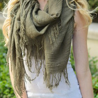 Shredded Fringe Scarf