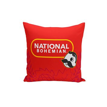 National Bohemian Beer (Red) / Throw Pillow