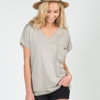 Along These Lines V-Neck Tee