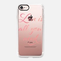 Love is all you need (blush) iPhone 7 Case by Kanika Mathur | Casetify
