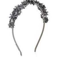 Brown/Silver BCBG Floral-Stone Headband