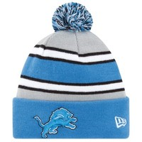 New Era Detroit Lions 2013 On-Field Player Sideline Sport Knit Hat - Light Blue/Gray