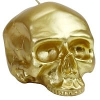 Medium - Gold Skull Metallic Candle