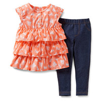 2-Piece Top & Jegging Set