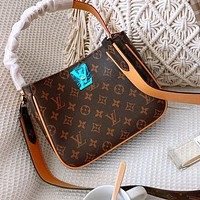 LV Bag Louis Vuitton Double locks with leather locks-double locks
