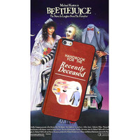 Handbook for the Recently Deceased, Beetlejuice Inspired, Custom Phone Case for iPhone 4/4s, 5/5s, 6/6s, 6/6s+, iPod Touch 5
