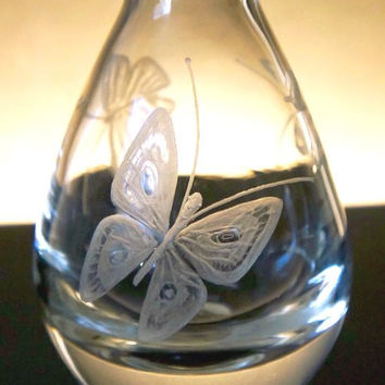 Mini Hand engraved Bud Vases - Flowers, Dragonflies, Elephant, Butterflies and more...