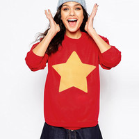 Fashion women sweatshirt STEVEN UNIVERSE STAR COOKIE CAT long Sleeve