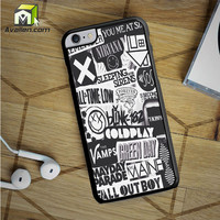 The Xx Coldplay Arctic Monkeys The Neighbourhood Sleeping With Sirens The 1975 Band iPhone 6S Plus Case by Avallen