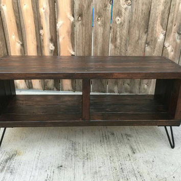 Double section jacobean box; entertainment center, console stand, tv stand,  mid century Modern, vintage, rustic,