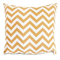 Yellow Chevron Extra Large Pillow