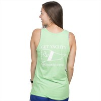 GET YACHTY TANK TOP IN NEON GREEN BY ANCHORED STYLE